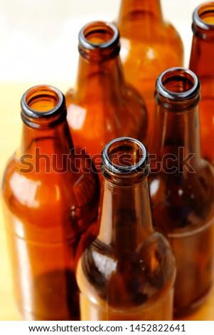 Photo of empty beer bottles #1452822641