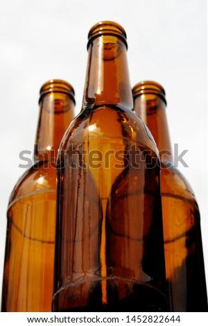 Photo of empty beer bottles #1452822644