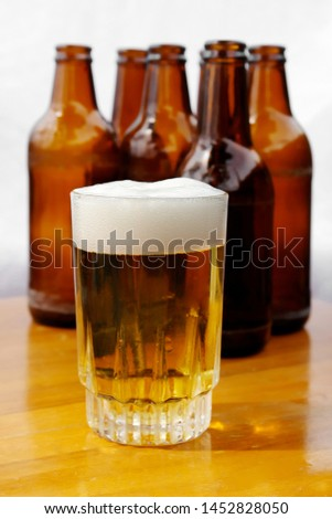 Glass tumbler with beer bottles #1452828050