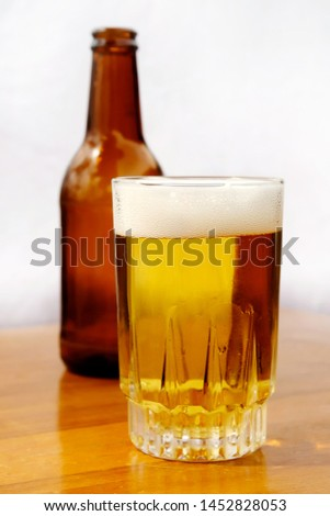 Glass tumbler with beer bottles #1452828053