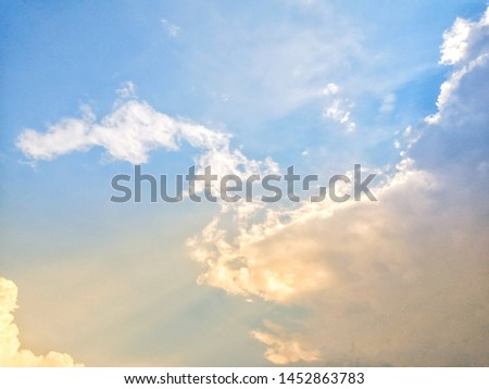 morning sky, sunlight shining below the picture.
