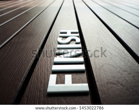 laser cut acrylic white letters on wood