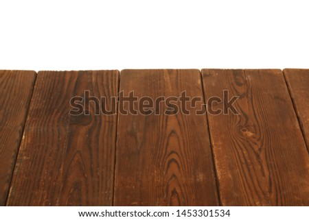 rustic wooden board floor on white background #1453301534