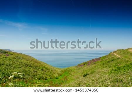A beautiful sunny day at Bassets cove, Cornwall, England #1453374350