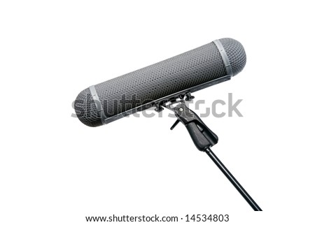 Location Microphone wind protection basket on boom mic