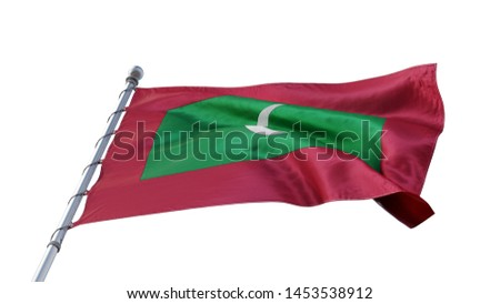 Flag Maldives MV 3d rendering #1453538912