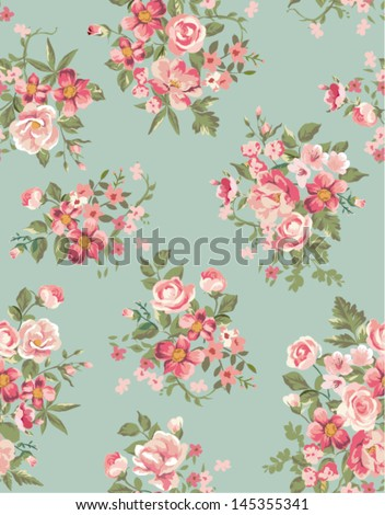 vintage floral ,flower seamless pattern background