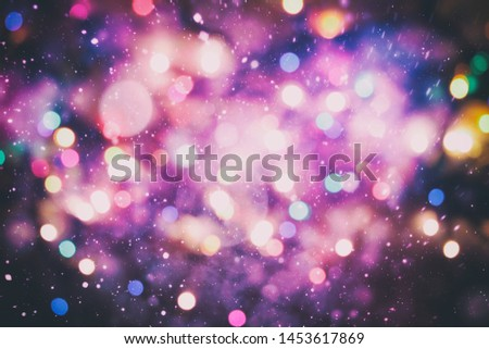 Festive Christmas background. Elegant abstract background with bokeh defocused lights and stars #1453617869