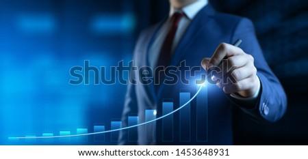 Financial Graph. Stock Market chart. Forex Investment Business Internet Technology concept #1453648931