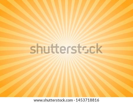 Sunlight abstract background. Bright yellow color burst background. Vector illustration. Sun beam ray sunburst pattern background. Retro bright backdrop. starburst wallpaper #1453718816