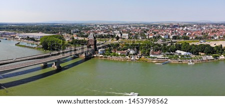 Aerial view of Worms, Rhineland-Palatinate, Germany #1453798562