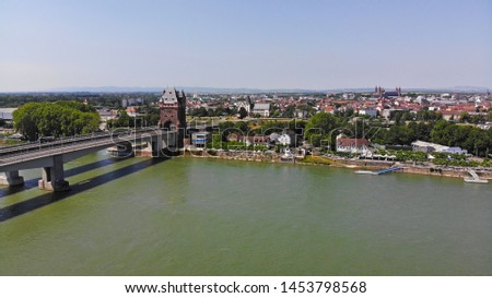 Aerial view of Worms, Rhineland-Palatinate, Germany #1453798568