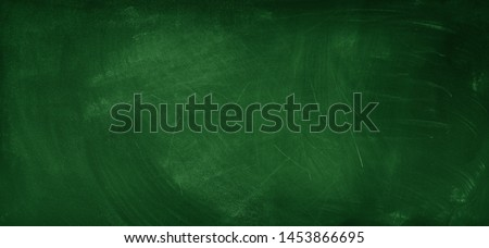 Chalk rubbed out on green chalkboard background #1453866695
