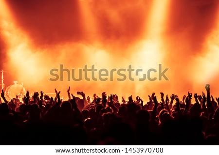 concert crowd at rock concert #1453970708