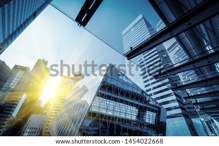 From a low angle skyscraper in modern Chinese cities #1454022668