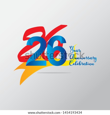 anniversary emblems 26 in anniversary concept template design #1454193434