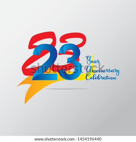 anniversary emblems 23 in anniversary concept template design #1454196440