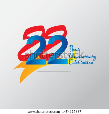anniversary emblems 22 in anniversary concept template design #1454197667