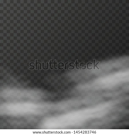 Realistic fog or smoke on the transparent background Vector #1454283746