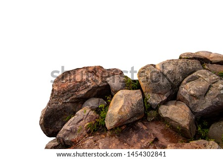 The trees.Rocks and Stone on the Mountain .Isolated on White background Royalty-Free Stock Photo #1454302841