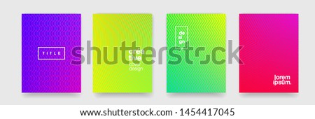 Abstract texture, color gradient pattern background. Vector geometric line wave, modern trend simple minimal geometric pattern background design #1454417045