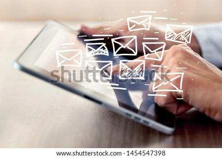 Concept of sending e-mails from your computer #1454547398