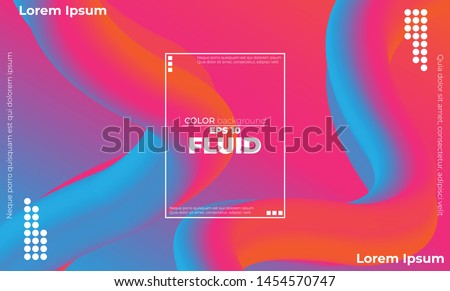 Abstract fluid color pattern of neon color liquid gradient background with modern geometric dynamic motion style Suitable For Wallpaper, Banner, Background, Card, Book Illustration, landing page, #1454570747