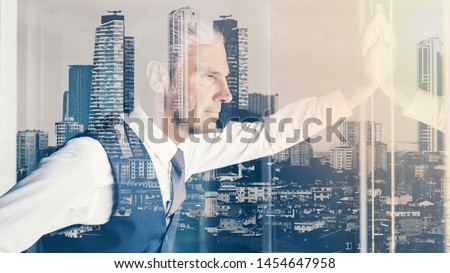 Portrait of businessman in the office #1454647958