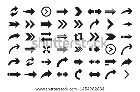 Arrow icon. Big set of vector flat arrows. Collection of concept arrows for web design, mobile apps, interface and more. #1454962634