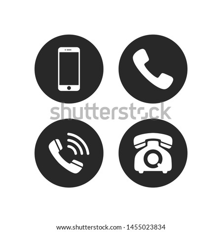 Phone icon vector. Mobile phone and telephone symbol pack