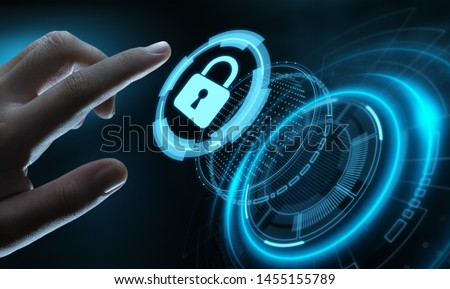 Cyber Security Data Protection Business Technology Privacy concept. #1455155789