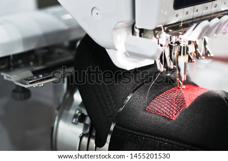 Graphic embroidery machine on the hat #1455201530