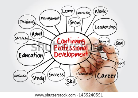 Continuing Professional Development mind map flowchart with marker, business concept for presentations and reports #1455240551