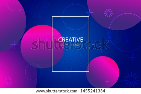 Abstract background with geometric gradient circle. Design abstract pattern with color circles, dots. Abstract website landing page with circles.vector illustration #1455241334