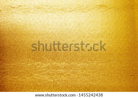 Shiny yellow leaf  gold foil texture background #1455242438