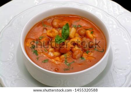 Italian food recipes, Pisarei with Borlotti beans. #1455320588