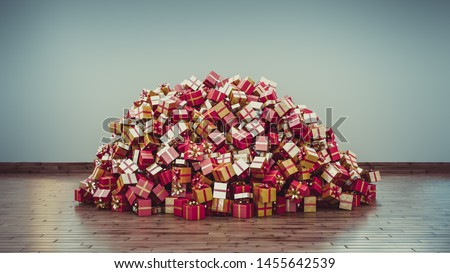 A Big pile of Christmas Presents Royalty-Free Stock Photo #1455642539