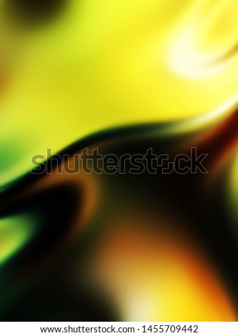 Fluid abstract background with colorful gradient. 2D illustration of modern movement. #1455709442