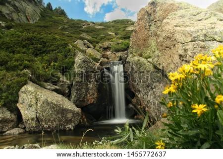 Little waterfall in the mountain #1455772637