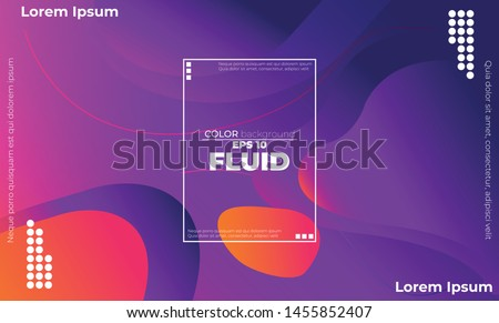 Creative geometric wallpaper. Trendy fluid flow gradient shapes composition. Visual Supply Company background for gift card,  Poster on wall poster template,  landing page, ui, ux ,coverbook,  baner,  #1455852407