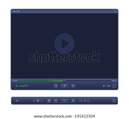 Elegant WEB-video player.  #145612504
