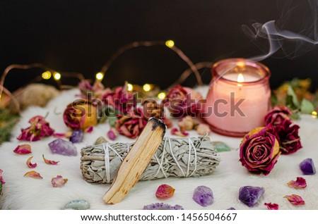 Romantic Cozy Tarot Setup Background #1456504667