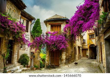 beautiful old town of Provence Royalty-Free Stock Photo #145666070
