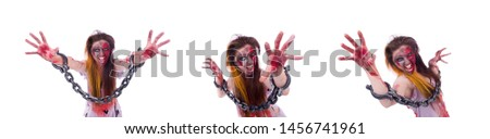Woman vampire isolated on the background #1456741961