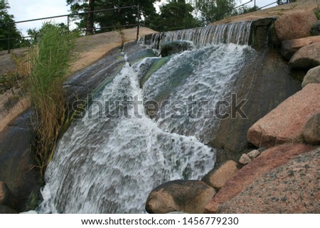 waterfall in the city of Kotka, Finland #1456779230
