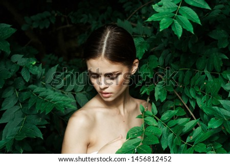 young woman outdoors portrait look #1456812452