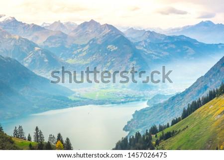 trekking part crossing amazing scenery #1457026475