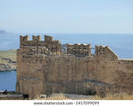 Lindos bay and acropolis, Rhodes #1457099099