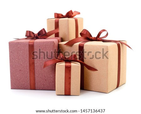 Gift boxes, gifts on a white background isolated. Vacation. Valentine's Day. Women's Day. mothers Day. #1457136437