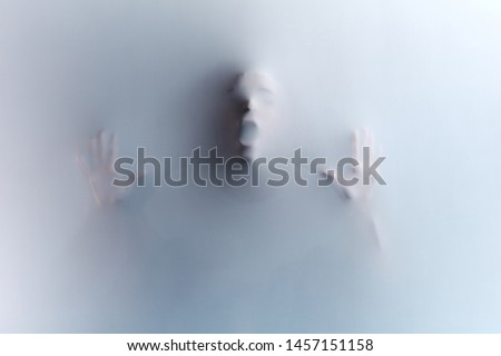 crazy mad man trying to give friends a scare, killer's violence. black and white photo. phobia, fear,UFO, alien,awful death in the shower room, bathroom,a dying man gasping for breath #1457151158